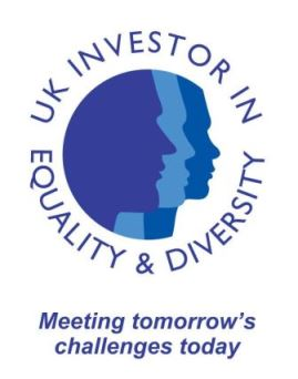 UK Investor in Equality and Diversity logo