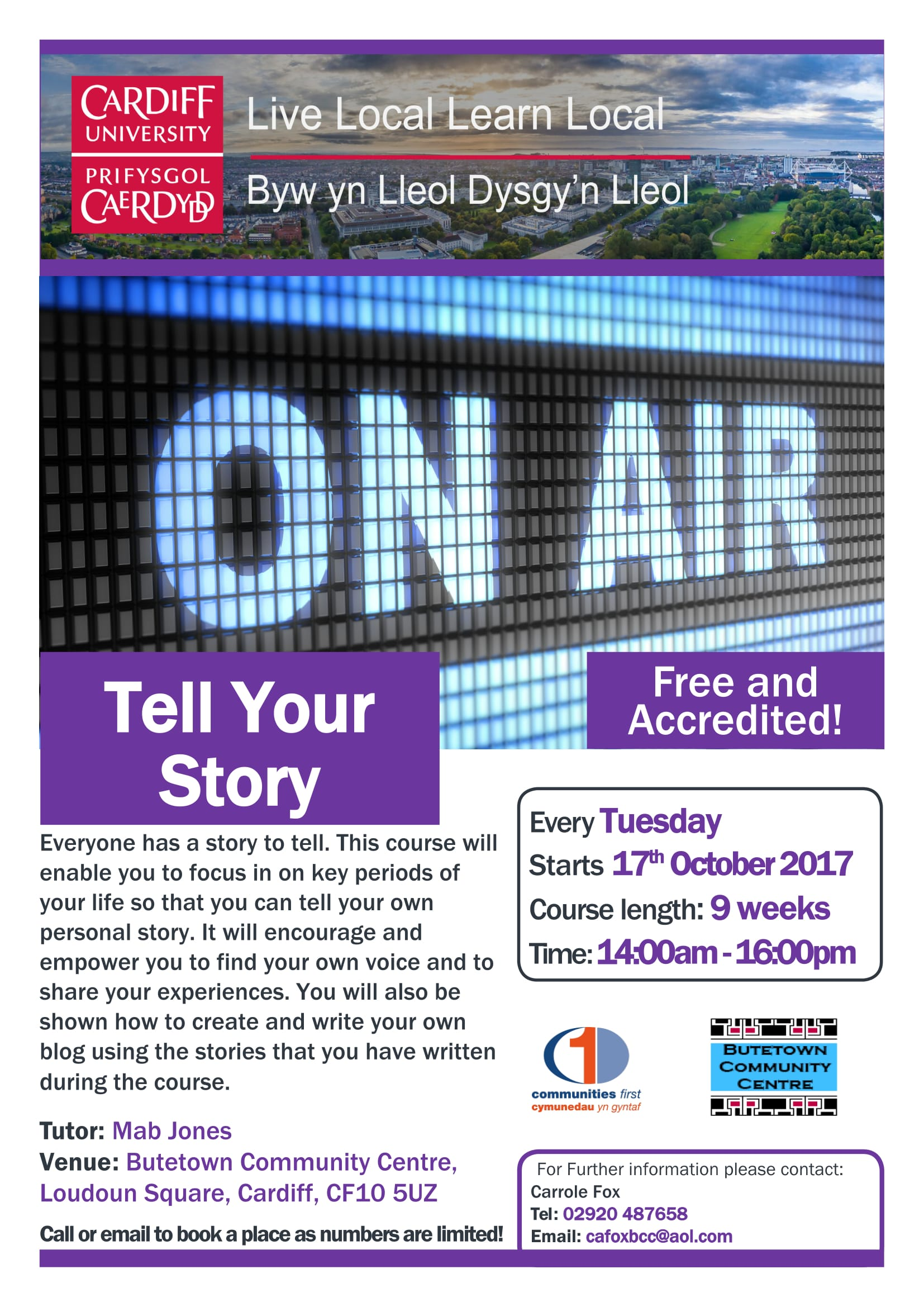 Tell Your Story BCC Oct 17 1