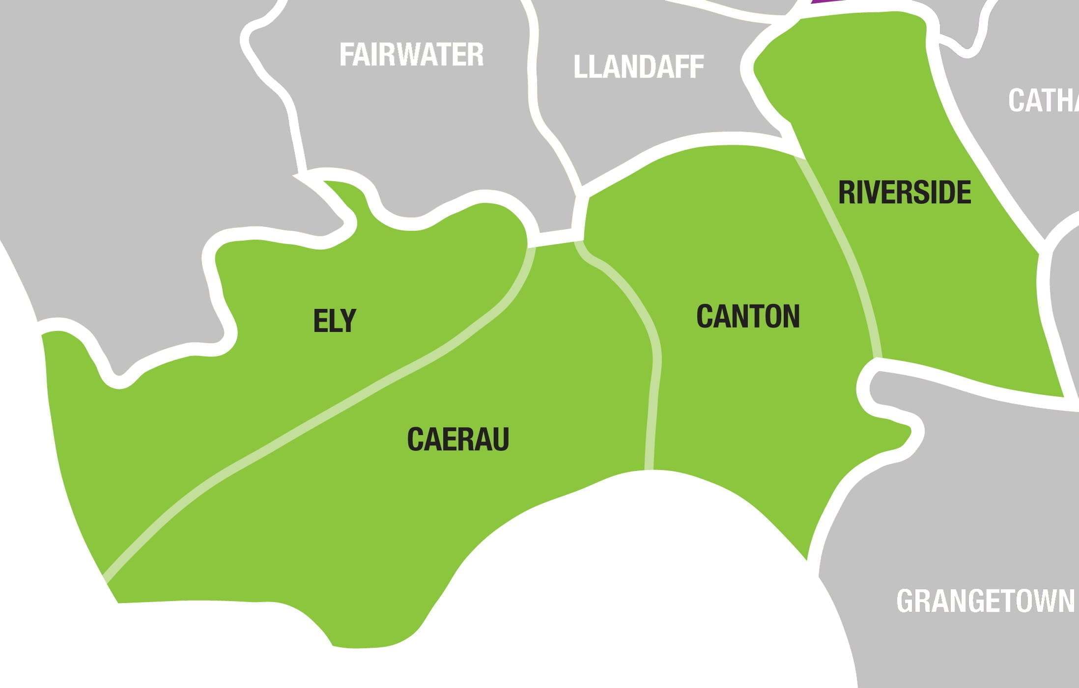 Map of Cardiff South West
