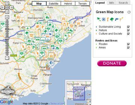 Cardiff green map