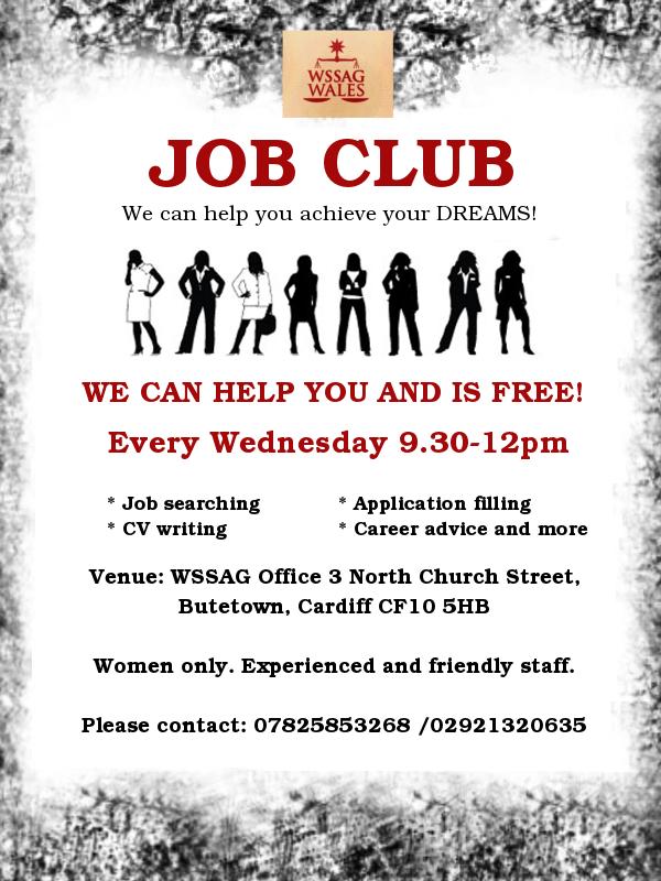 WSSAG Job Club poster