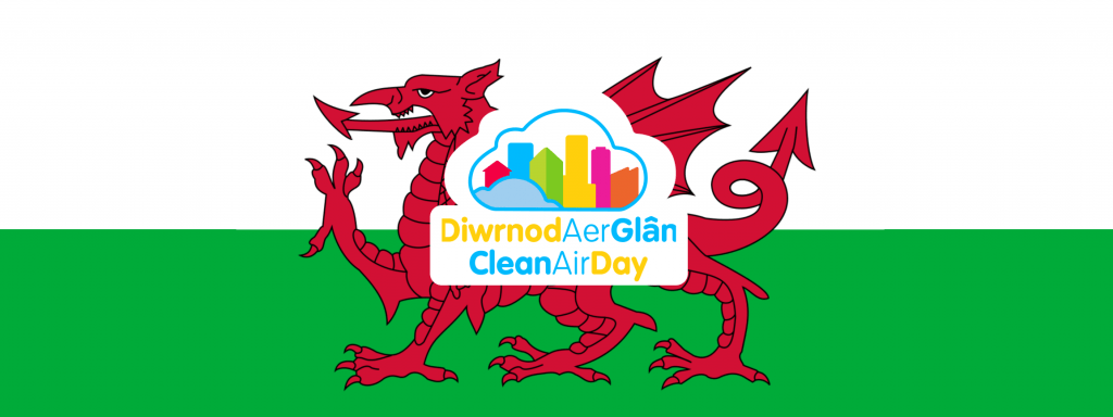 welsh banner clean air day 2021